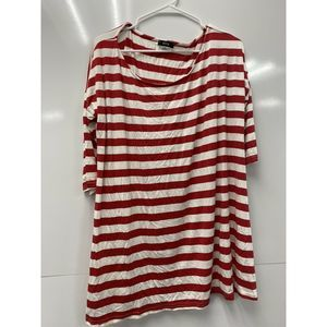 BDG Womens Striped Shirt Top 3/4 Sleeve Size L
